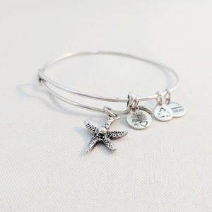 Alex and Ani Silver Starfish Charm Bracelet